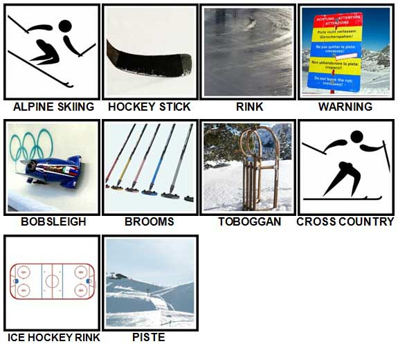 100 Pics Winter Sports Level 31-40 Answers