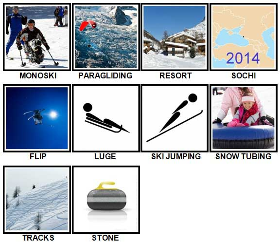 100 Pics Winter Sports Level 51-60 Answers