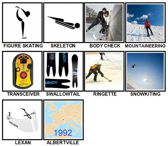 100 Pics Winter Sports Level 71-80 Answers