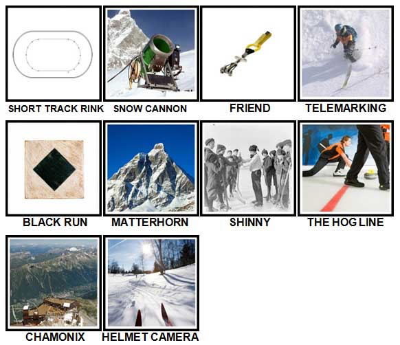 100 Pics Winter Sports Level 91-100 Answers