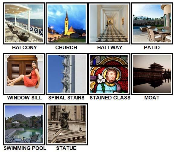 100 Pics Architecture Level 11-20 Answers