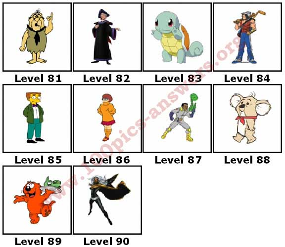 100 Pics Cartoons 3 Answers81