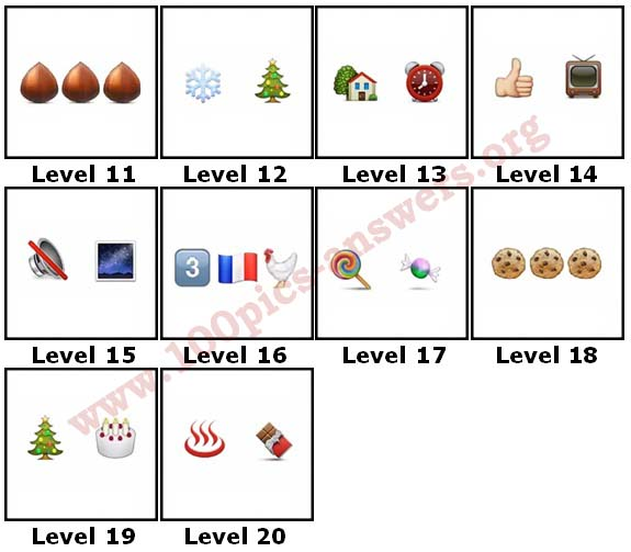 100 Pics Christmas Emoji.100 Pics Christmas Emoji Level 11 20 Answers 100 Pics Answers