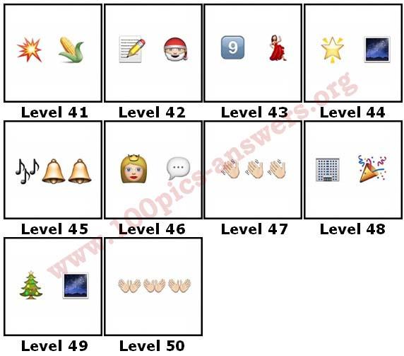 100 Pics Christmas Emoji.100 Pics Christmas Emoji Level 41 50 Answers 100 Pics Answers