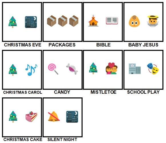 100 Pics Christmas Emoji Level 41 50 Answers 100 Pics Answers