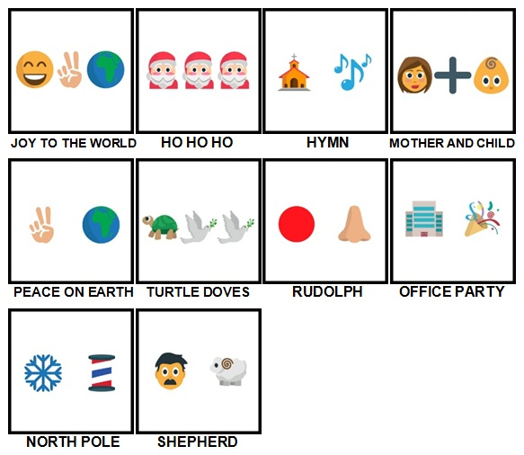 100 Pics Christmas Emoji Level 51-60 Answers