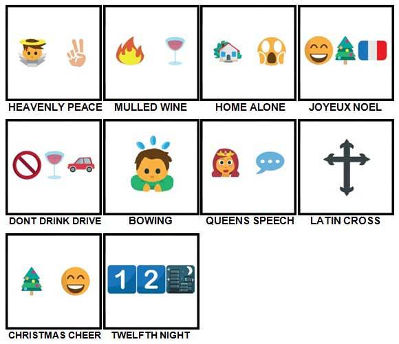 100 Pics Christmas Emoji Level 71-80 Answers