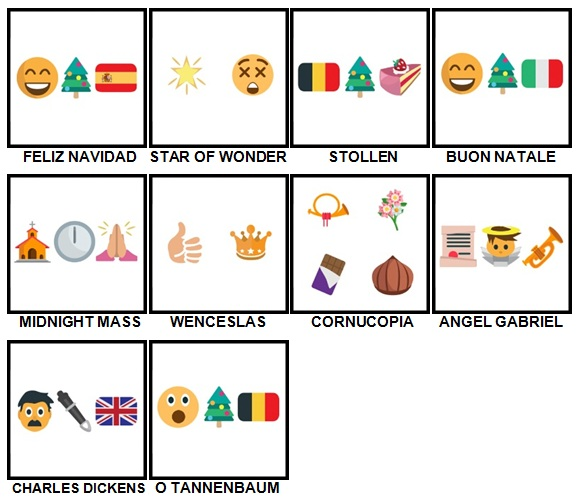 100 Pics Christmas Emoji Level 91-100 Answers