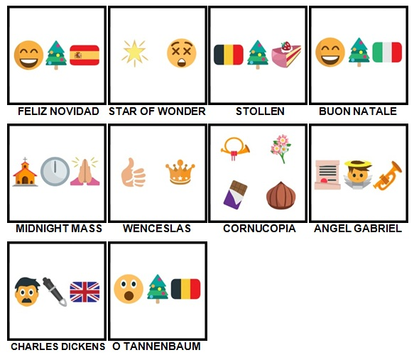 100 Pics Christmas Emoji Level 91-100 Answers | 100 Pics Answers