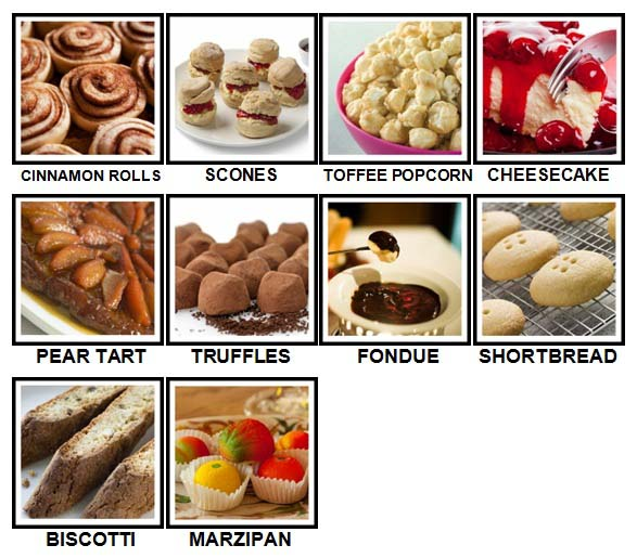 100 Pics Desserts Level 51-60 Answers