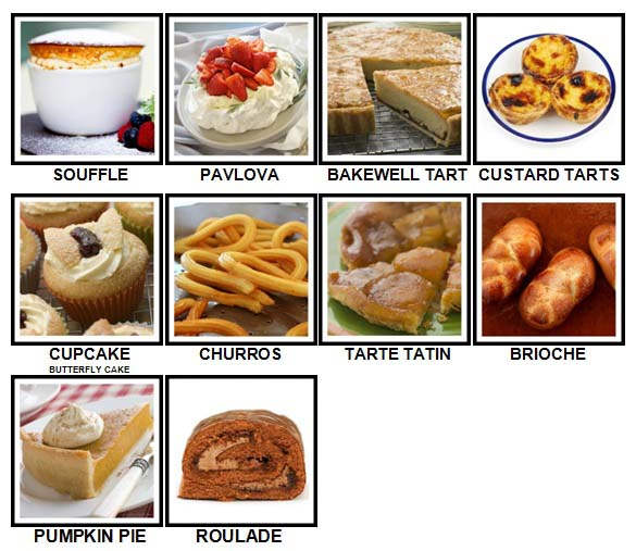 100 Pics Desserts Level 71-80 Answers
