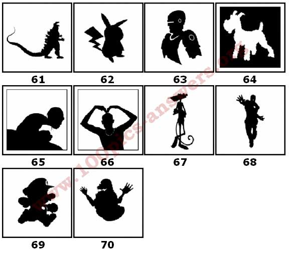 100 Pics Silhouettes Answers Level 61