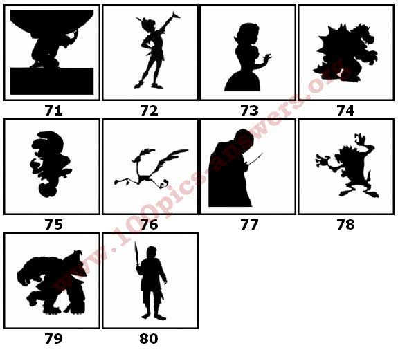 100 Pics Silhouettes Answers Level 71