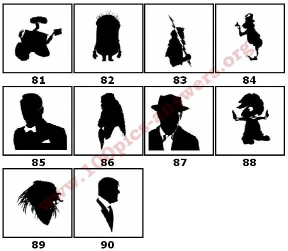 100 Pics Silhouettes Answers Level 81