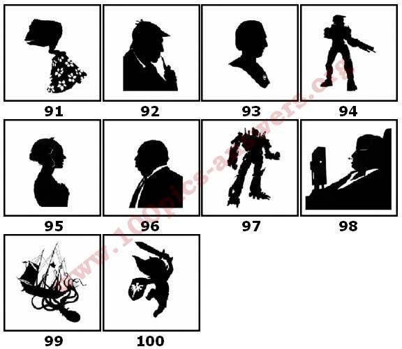 100 Pics Silhouettes Answers Level 91