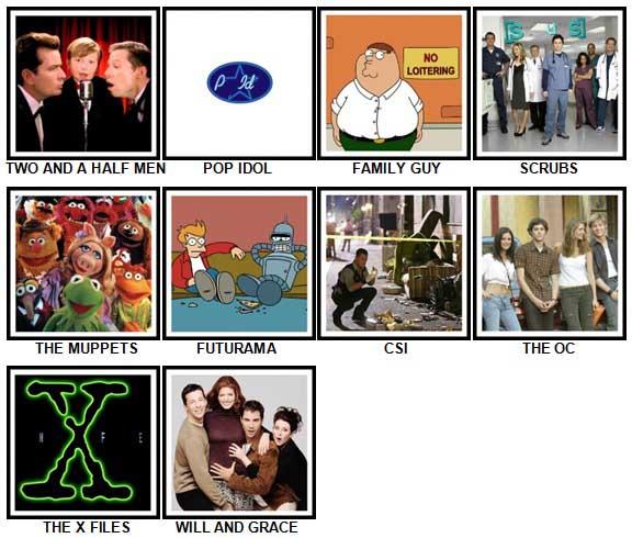 100 Pics TV Shows 2 Answers 1-10