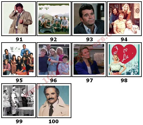 100 Pics TV Shows 2 Answers91