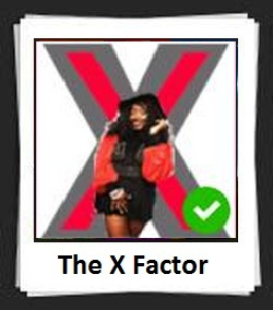 100 Pics The X Factor Answers