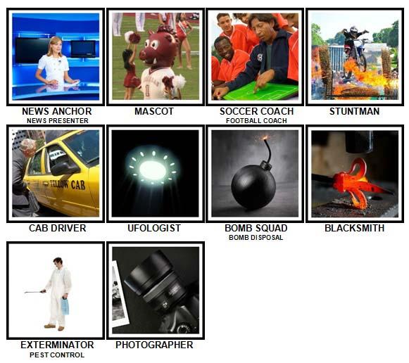 100 Pics What Job? Level 51-60 Answers