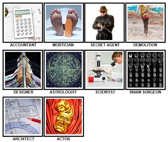 100 Pics What Job? Level 61-70 Answers