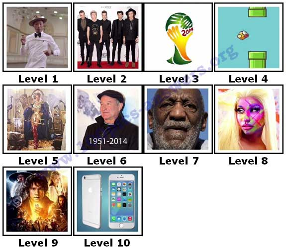 100 Pics 2014 Quiz Answers Level 1