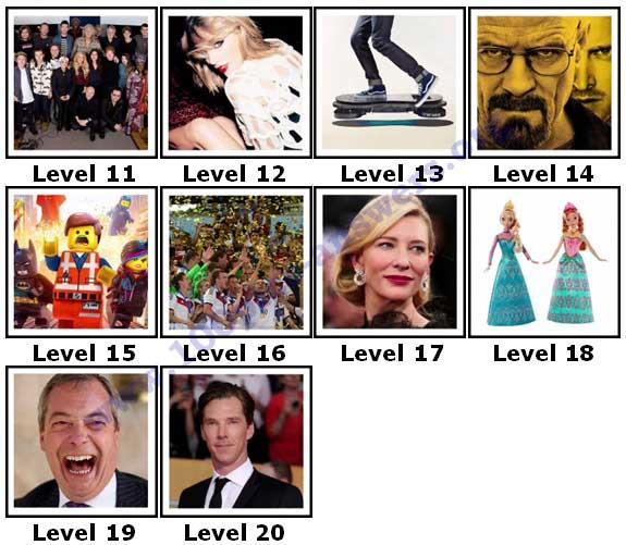100 Pics 2014 Quiz Answers Level 11