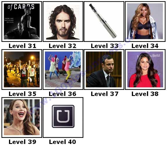 100 Pics 2014 Quiz Answers Level 31