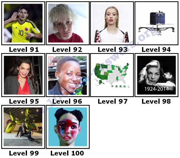 100 Pics 2014 Quiz Answers Level 91