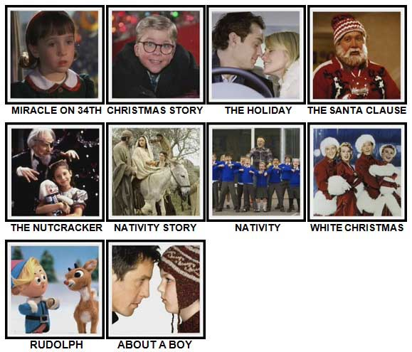 100 Pics Christmas Films Level 11-20 Answers