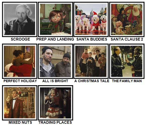 100 Pics Christmas Films Level 31-40 Answers