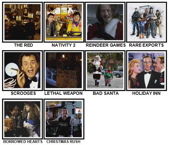100 Pics Christmas Films Level 41-50 Answers