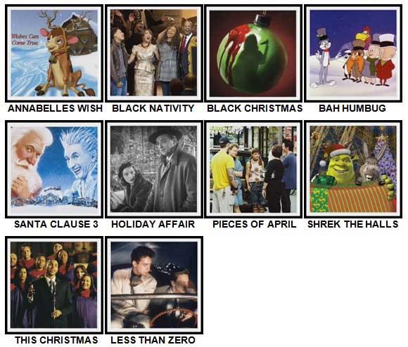 100 Pics Christmas Films Level 51-60 Answers