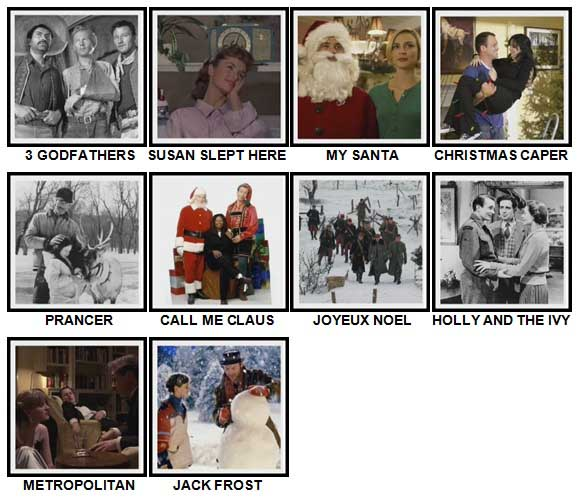 100 Pics Christmas Films Level 61-70 Answers