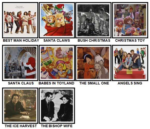 100 Pics Christmas Films Level 71-80 Answers