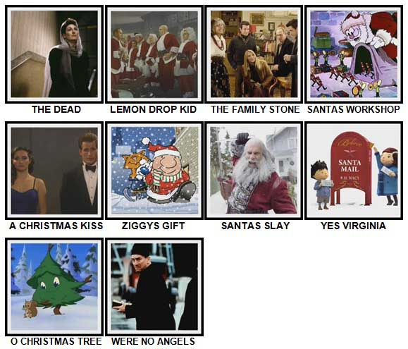 100 Pics Christmas Films Level 81-90 Answers