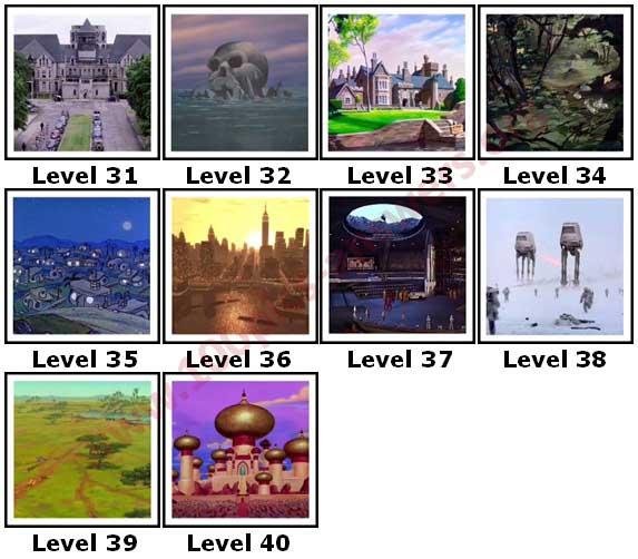 100 Pics Fictional Places Level 31 Answers