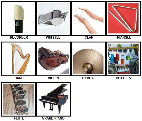 100 Pics Instruments Answers 1-10