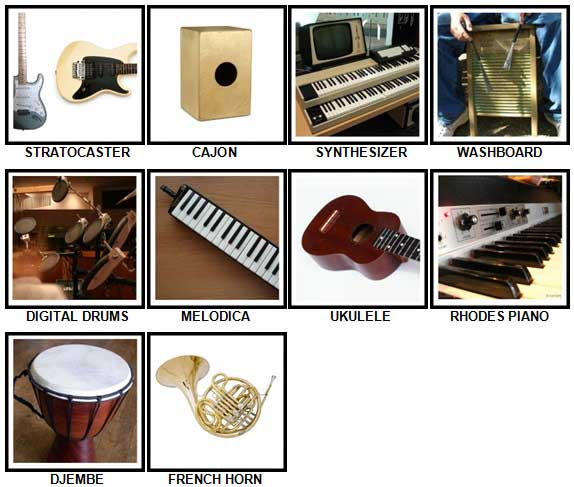 100 Pics Instruments Level 61-70 Answers