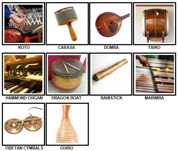 100 Pics Instruments Level 81-90 Answers