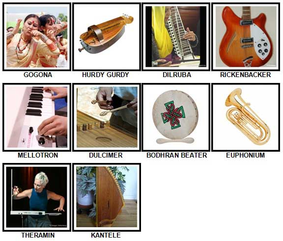 100 Pics Instruments Level 91-100 Answers