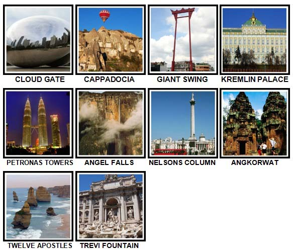 100 Pics Landmarks Level 71-80 Answers