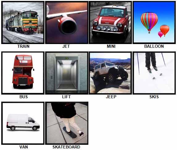 100 Pics Transport Level 1-10