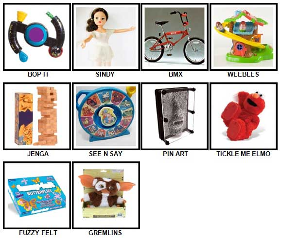 100 Pics Classic Toys Answers 1-10