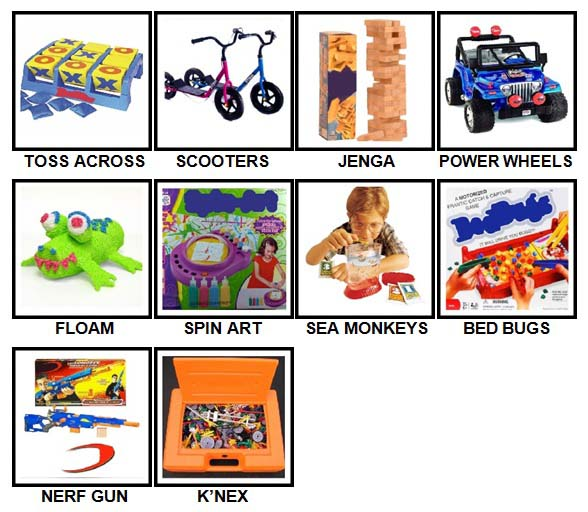 100 Pics Classic Toys Level 11-20 Answers