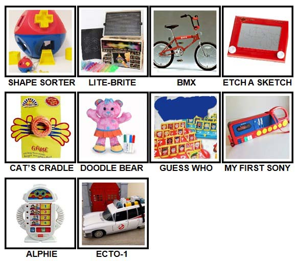 100 Pics Classic Toys Level 21-30 Answers