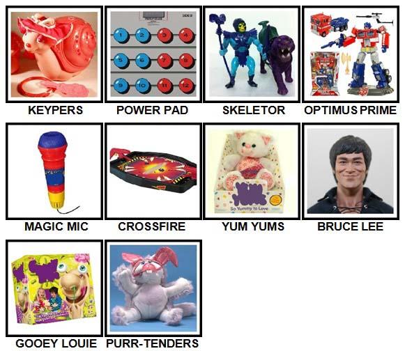 100 Pics Classic Toys Level 41-50 Answers