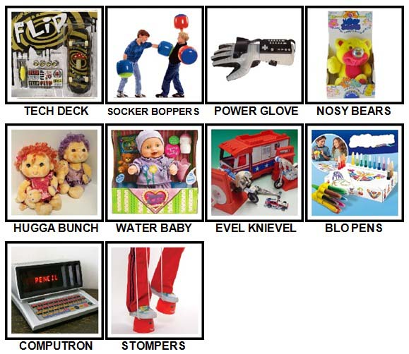100 Pics Classic Toys Level 61-70 Answers