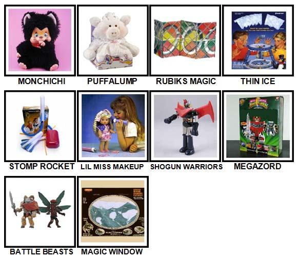 100 Pics Classic Toys Level 71-80 Answers