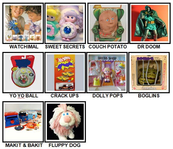 100 Pics Classic Toys Level 91-100 Answers