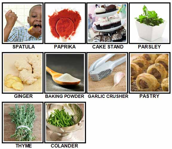 100 Pics Cooking Level 41-50 Answers